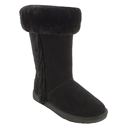 Minnetonka Kvinners Canyon Saueskinn Boot Sort