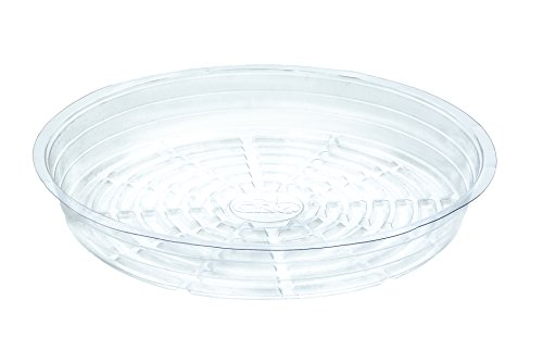 My Garden Kit Clear Plant Saucers 16 Inch Pack of 5 Great For Indoor Outdoor Flower Pot Drip Tray (5) by My Garden Kit