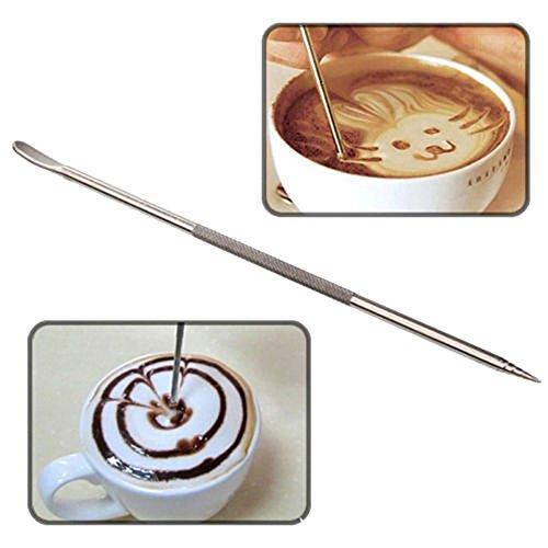Profesional Barista Café Latte Cappuccino Espresso Decoración Arte Pen Cafe Cocina Decoración Herramienta: Amazon.es: Hogar