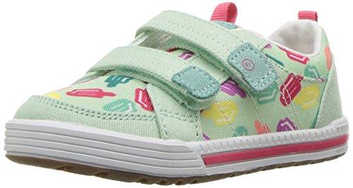 - Stride Rite Girls' Logan Sneaker, Green, 4 Wide US Toddler