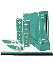 Teal Turquoise Vinyl Decal Faceplate Mod Skin Kit for Nintendo Wii Console by System Skins