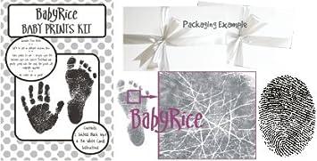 New Baby Keepsake Unique Christening Gift Handprint Footprint Kit Inkless Pewter