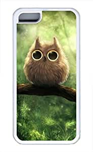 Owl Tree Cute Soft Case Cover for iPhone 5C TPU White