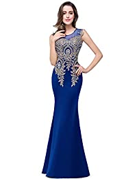 Babyonline Womens Mermaid Evening Dresses Backless Long Homecoming Prom Gown