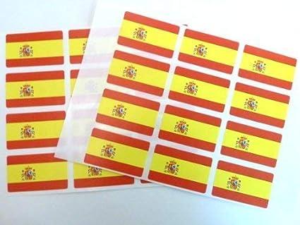 Unidades 24, 50 x 30 mm, España AUTO stick bandera pegatinas autoadhesivas Etiquetas bandera española: Amazon.es: Oficina y papelería