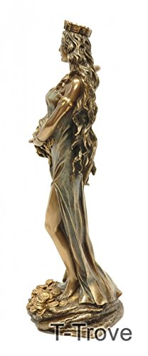 Cold Cast Bronze Roman Goddess Fortuna Greek Goddess Tyche Statue Figurine