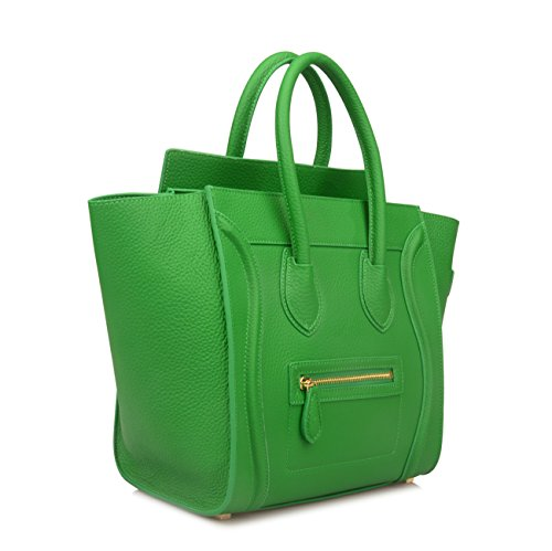 Jual Ainifeel Women s Genuine Leather Smile Top Handle Handbag Purse ... 7f7986912fc1d