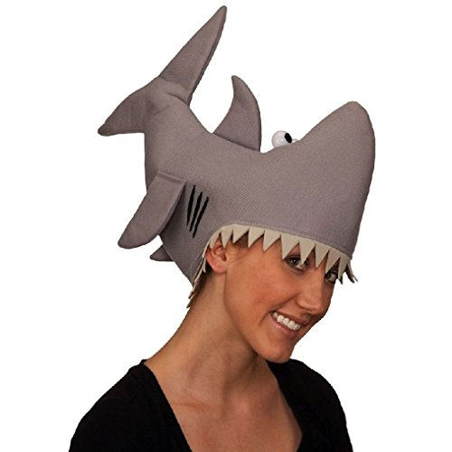 The Orphan Killer Mask (OvedcRay Adult Gray Shark Hat Funny Jaws Killer Shark Fish Marine Animal Costume)