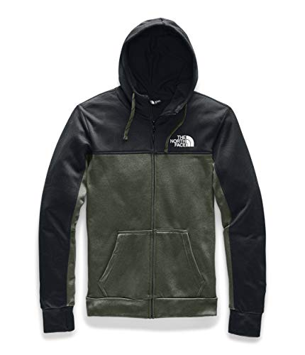 The North Face Men's Surgent Bloc Full Zip Hoodie 2.0, TNF Black Topo Print/New Taupe Green Heather, L