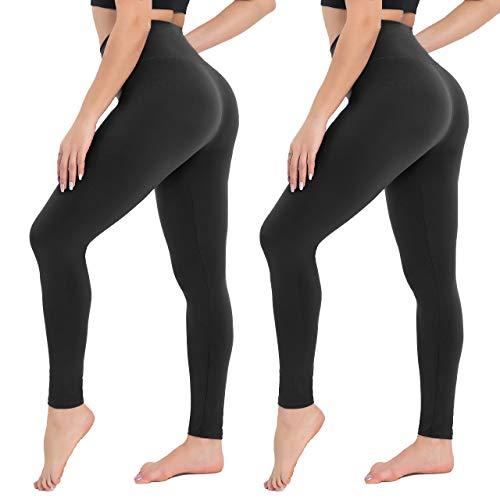 Campsnail Damen Leggings Sporthose mit Hohem Bund - Yogahose Laufhose Fitnesshose Leggins Yoga Sport Leggings Tights für Damen zum Laufen, Radfahren, Fitness
