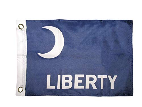 ALBATROS 12 inch x 18 inch Liberty Ft Moultrie Boat Motorcycle Car Flag Banner Grommets for Home and Parades, Official Party, All Weather Indoors Outdoors