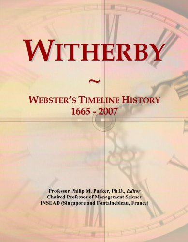 Witherby: Webster's Timeline History, 1665 - 2007