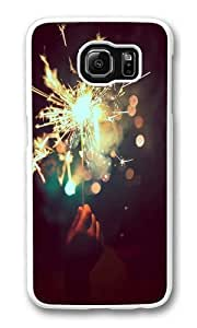 Brilliant fireworks1 PC Case Cover for Samsung S6 and Samsung Galaxy S6 White