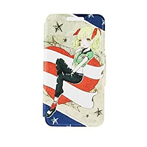 HJZ Kinston Dream Girl Pattern PU Leather Full Body Case with Stand for Samsung Galaxy Note 4