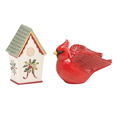 lenox Winter Greetings Salt and Pepper, Cardinal Birdhouse