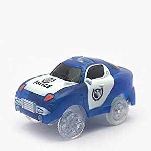 Light up Magic Race Cars Tracks Set As Seen on Tv (1 Pcs Police Car)