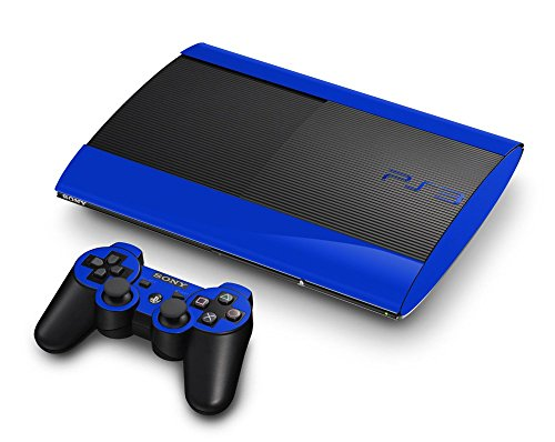 Sony PlayStation 3 Super Slim Skin (3rd Gen) - NEW - OCEAN BLUE system skins faceplate decal mod