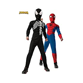 - 41BHl7WSljL - Rubie's Costume Co – Ultimate Spider-Man Reversible Kids Costume