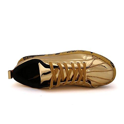 Tacco Pelle da Unita con Scarpe Cricket in Alto Tinta da Gold Scarpe Uomo wpU0xqTp
