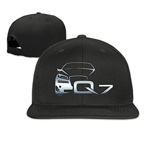 Price comparison product image Audi Q7 Logo Unisex Adjustable Flat Visor Hat Baseball Cap Black