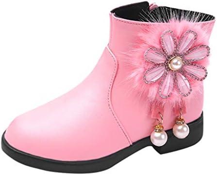ショートブーツ レザーブーツ 女の子 花 パール キッズ Jopinica 冬 冬のブーツ プリンセスシューズ ドレスシューズ