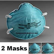 3M 1860S N95 Health Care Respirators 2-Pack (2 Small, Child Size Masks)