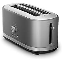 KitchenAid KMT4116CU 4 Slice Long Slot Toaster with High Lift Lever (Silver) - Manufacturer Refurbished