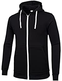 Men's Hoodies Full Zipper Lightweight Hooded Sweatshirt