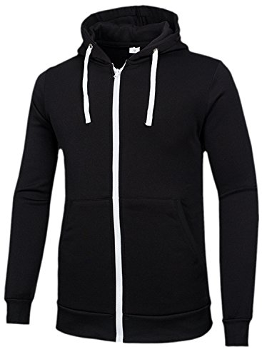 Zipper Hooded Sweatshirt Jacket - 4