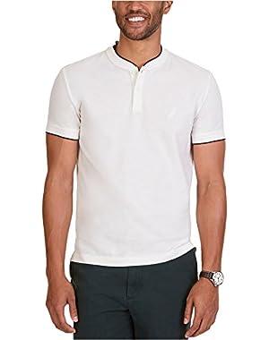 Mens Slim-Fit Ss Henley Shirt