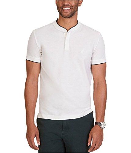 Nautica Mens Slim-Fit SS Henley Shirt marshmallo 2XL