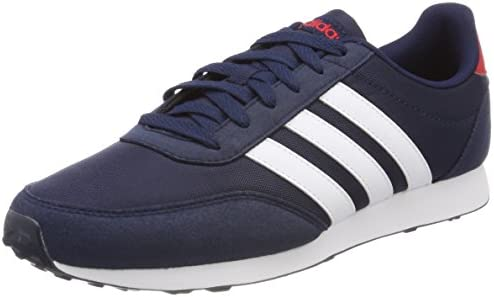 estoy sediento Resaltar bomba  Adidas Neo V Racer 2.0 Nylon Mesh Contrast Side Stripe Training Shoes for  Men - Collegiate Navy, 40 1/3: Buy Online at Best Price in KSA - Souq is  now Amazon.sa