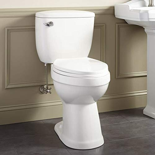 Signature Hardware 413995 Stalnaker 1.6 GPF Siphonic Two Piece Elongated Toilet - Seat Included