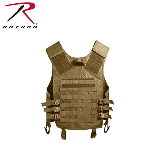 Coyote Tan MOLLE Modular Military Tactical Assault Vest, One Size Fits ()