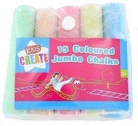 15 Coloured Jumbo Chalks