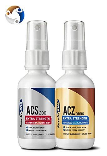 Total Body Detox  Results Rna Acz Nano Advanced Cellular Zeolite Extra Strength    Acs 200 Extra Strength Colloidal Silver 4 Oz Pack Of 2