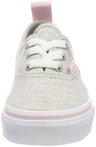 Vans Authentic Elastic Lace, Zapatillas Unisex Niños Gris (Shimmer Jersey)
