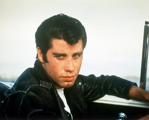 John Travolta 8x10 Promotional Photograph Grease in leather jacket