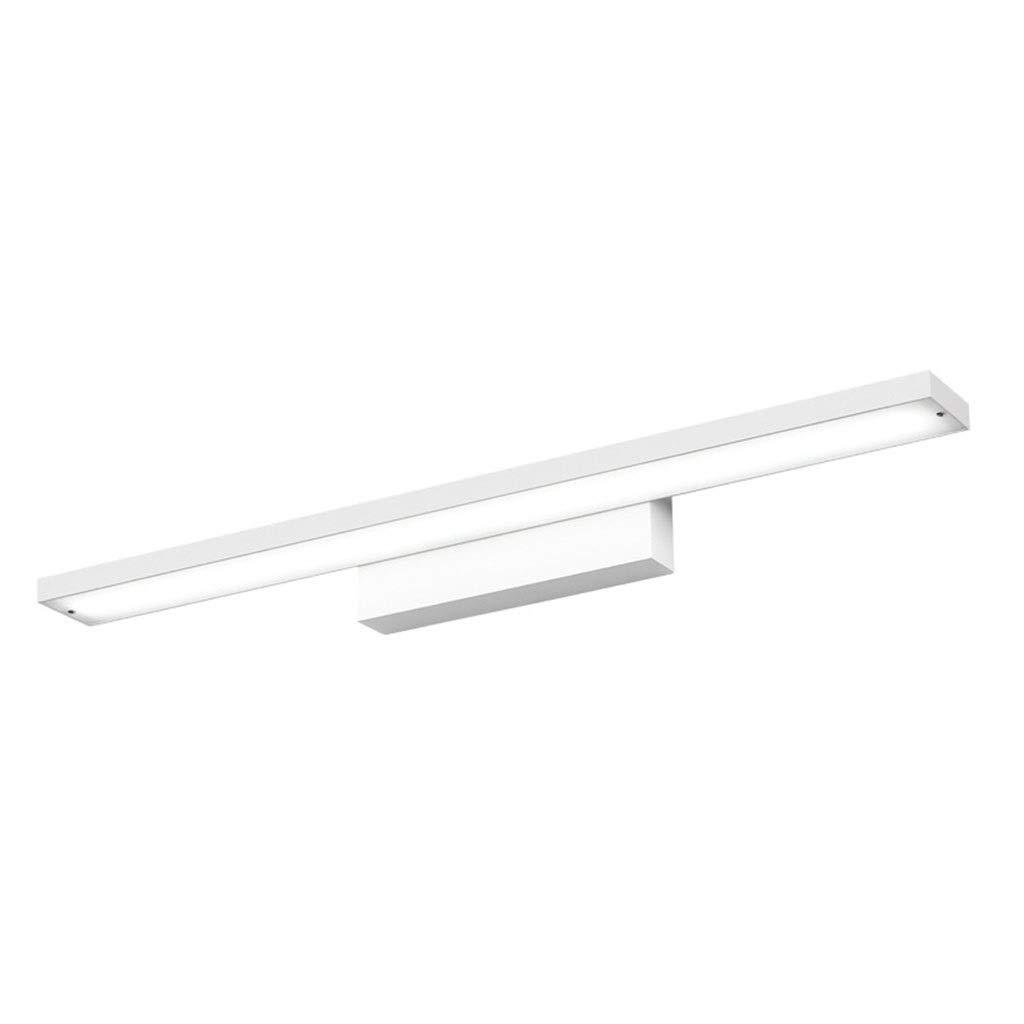 @Badezimmer Lichter Badezimmerspiegel Scheinwerfer Badezimmer Wasserdichte Make-Up Lampe Wandleuchte Einfache Aluminium Spiegel Scheinwerfer LED Deckenleuchte (Farbe   Warmes weißes Licht-80cm)