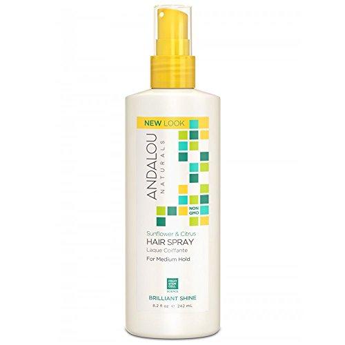 All Natural Hair Spray (Andalou Naturals Medium Hold Hair Spray Sunflower and Citrus -- 8.2 fl oz)