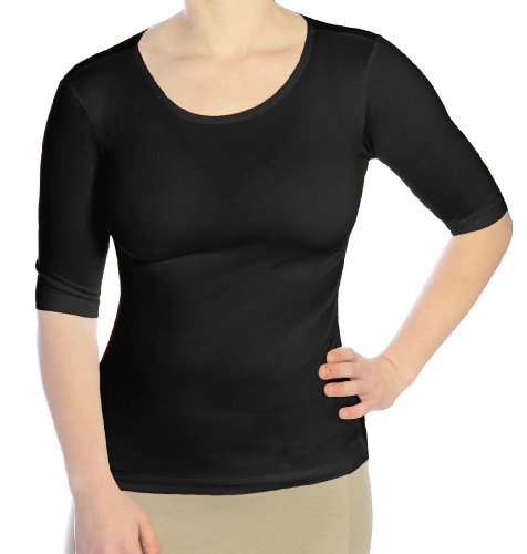 Kosher Casual Women's Elbow Length Sleeve Boat Neck Fitted Layering Top 24 - First Usps Tracking International