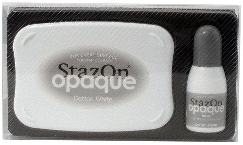 (Tsukineko Stazon Ink Pad, Cotton White by Imagine Crafts)