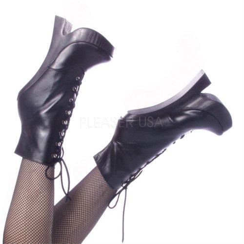 Slingrande Kvinna Femme 1020 14 Stövlar Svart Läder