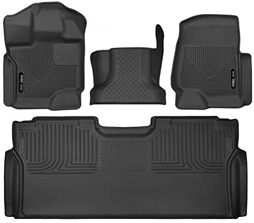 Husky Liners 53341-53491-53461 - X-Act Contour - First Row, Center Hump, and Second Row (Full Coverage under Second Row Seat) All Weather Custom Fit Floor Liners for 2015-2016 Ford F-150 SuperCrew Cab
