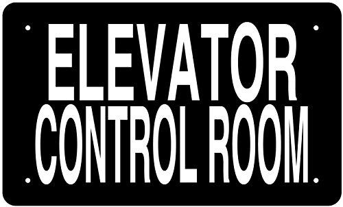 (ELEVATOR CONTROL ROOM SIGN (BLACK 6x10 Aluminium rust free))
