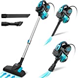 INSE Vacuum Cleaner Corded 18KPA Powerful Suction Bagless Stick Vacume, 600W Motor with 6m Power Cord Multipurpose 3 in 1 Handheld Vac Cleaner - I5 Blue