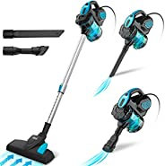 INSE Vacuum Cleaner Corded Bagless Stick 18 KPA Powerful Suction, Multipurpose 3 in 1 Handheld Vac with 6m Pow