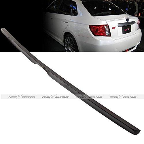 Remix Custom Trunk Spoiler For 2011 2012 2013 2014 2015 Subaru Impreza WRX STI 4-Door Sedan Unpainted Black Trunk Lip Spoiler Wing 12 13