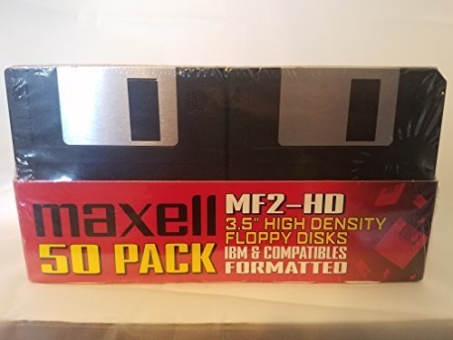 Maxell 3.5IN MF2HD Pre-Formatted Floppy (50-Pack) by Maxell