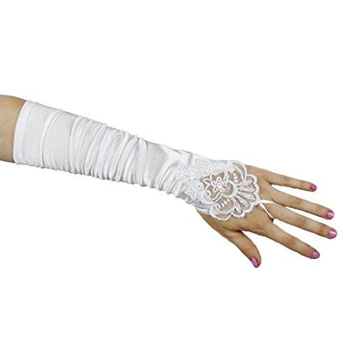 Plis Manchon De Protection Robe De Mariée En Satin De Mariée En Dentelle Brodée Y5f2 Blanc